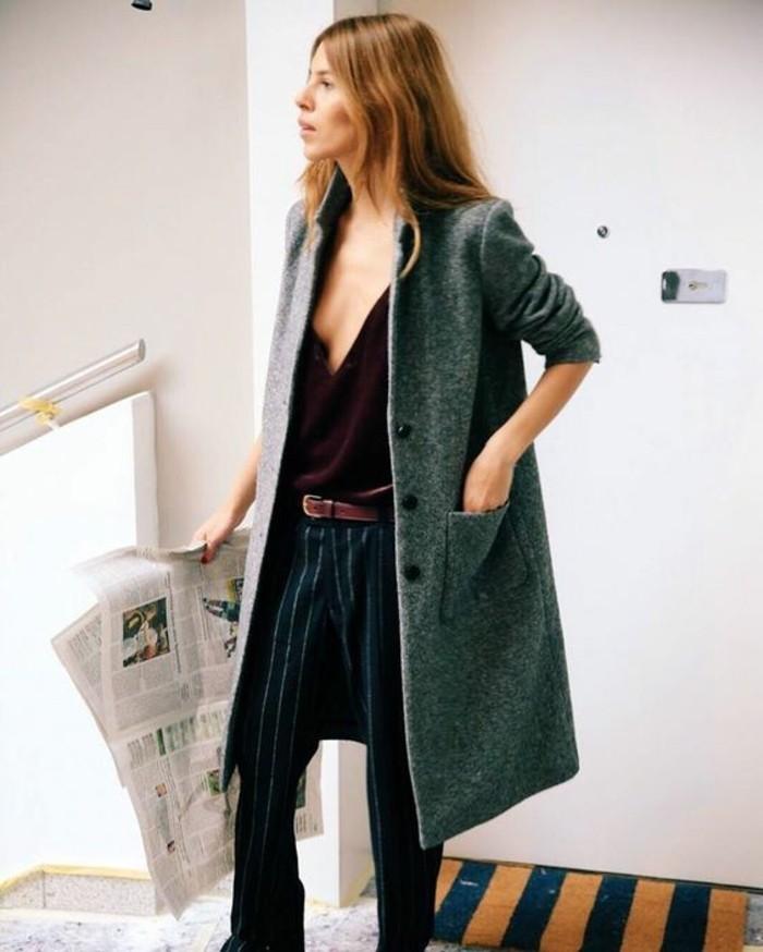 belle-femme-comment-m-habiller-aujourd-hui-manteau-pantalon-chemise