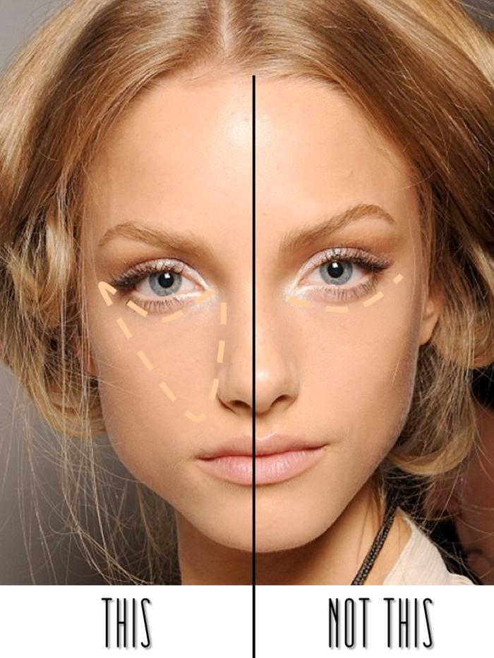 Jolie maquillage cosmétique couleur caramel idée