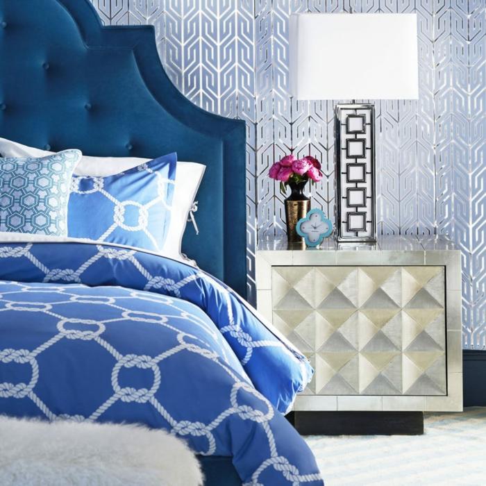 bleu-canard-couleur-deco-chambre-idée-intérieur-lit-joli