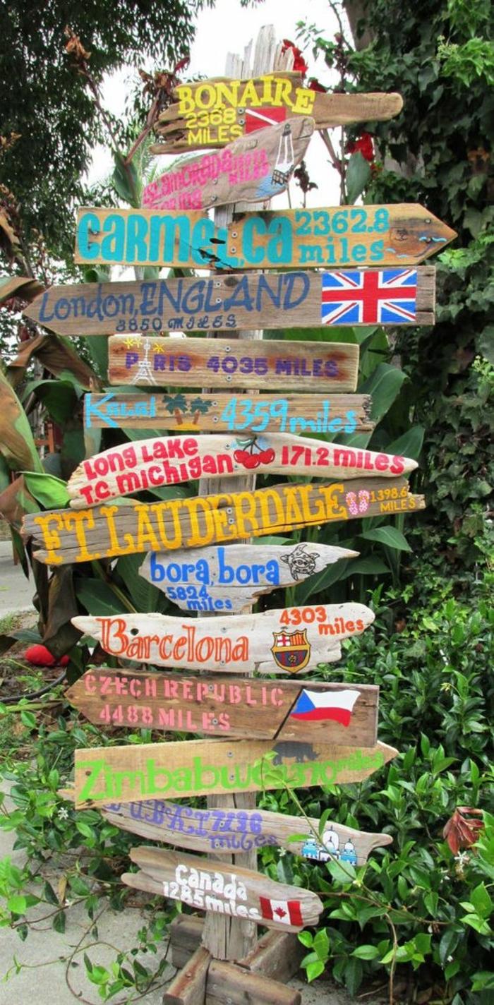 1001 pi ces de bois flott peint - Utilisation de la sciure de bois au jardin ...