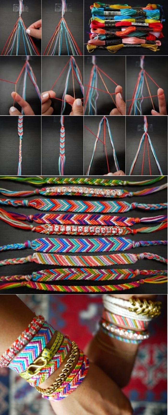 macramé tuto, bracelets multicolore, accessoires bohème, bracelet macramé tuto