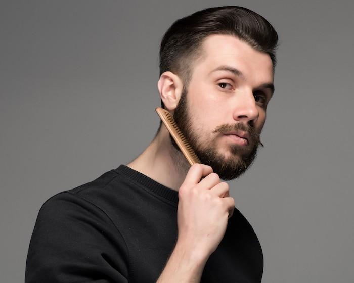 brosse barbe peigne homme peigner brosser barbes soins idées huile
