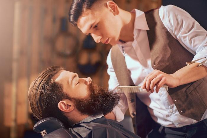 brosse barbe peigne homme peigner brosser soin barbe barbier