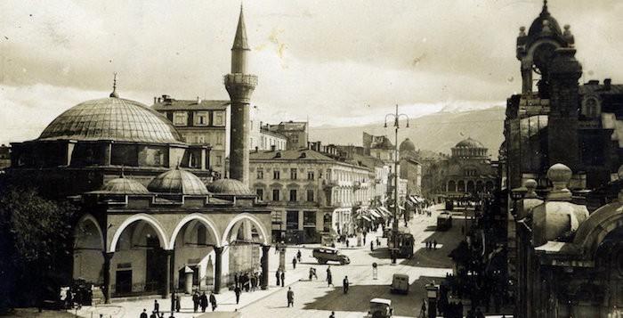 carte postale ancienne sofia bulgarie maria luiza mosquée