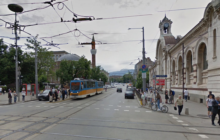 carte postale image sofia bulgarie réecen boulevard maria louisa banya bashi