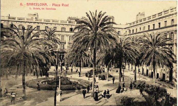 cartes postales anciennes barcelone espagne placa reial