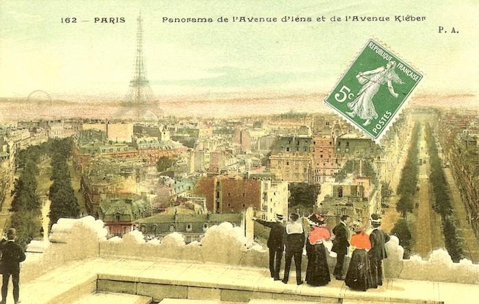 cartes postales anciennes paris france tour eiffel