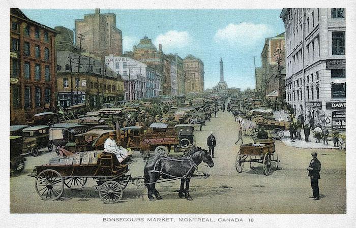 cartes postales anciennes ville montreal canada rues