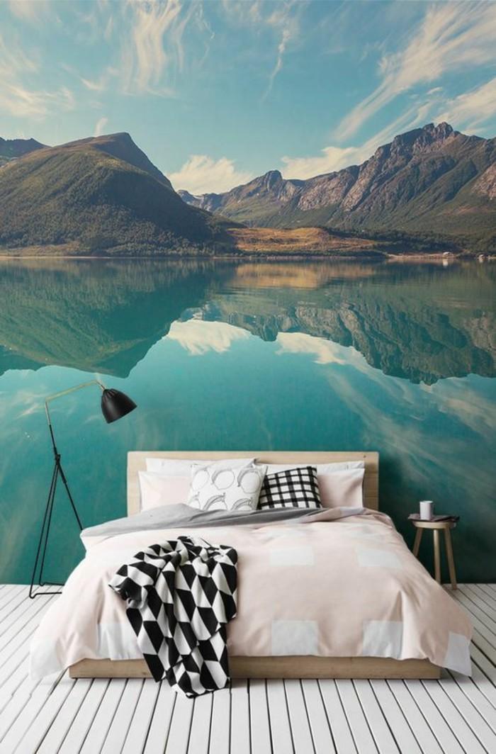 chabre-à-coucher-tapisserie-murale-paysage-montagne