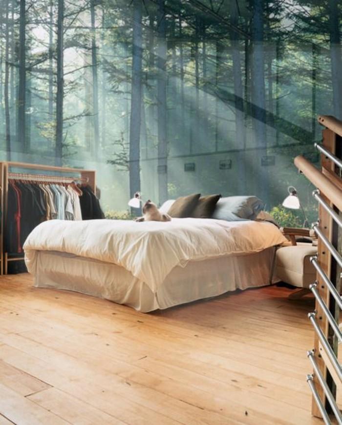 chambre-à-coucher-au-papier-peint-forêt-papier-peint-paysage-