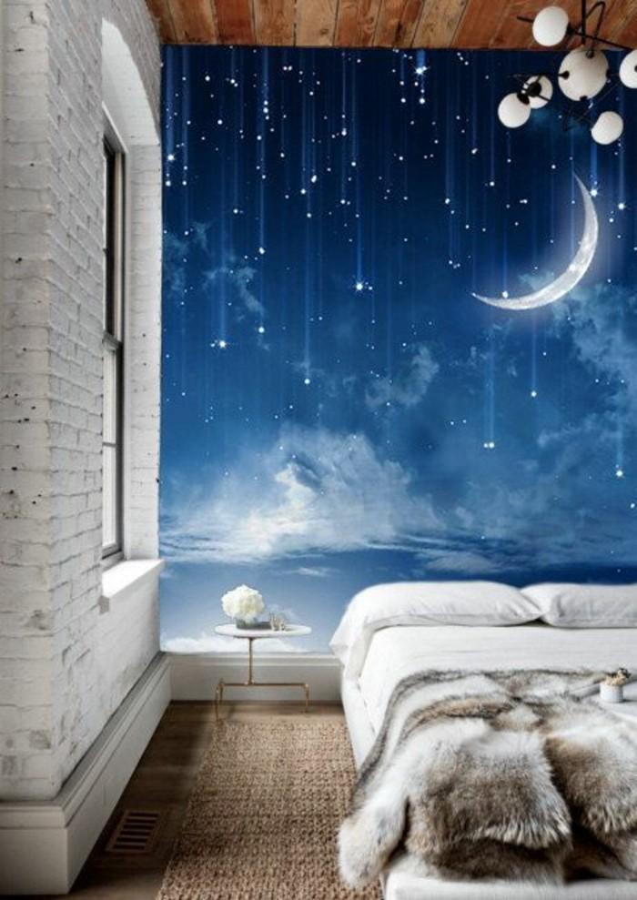 chambre-à-coucher-tapisserie-3d-papier-peint-décoratif-ciel-étoilé-