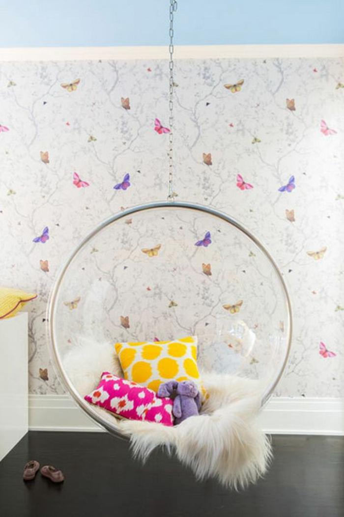chambre-d'ado-fille-créative-fauteuil-suspendu-espace-cocooning