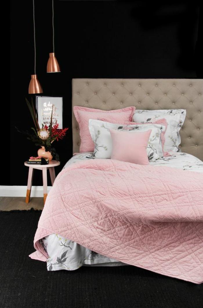chambre-d'ado-fille-moderne-déco-rose-et-cuivre