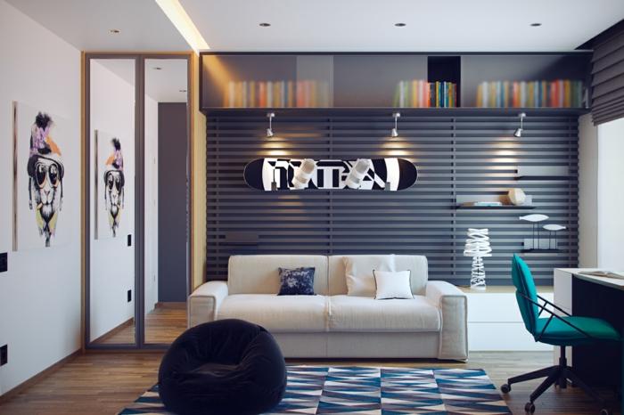 chambre-d'ado-garçon-déco-originale-idée-créative-pour-une-chambre-ado