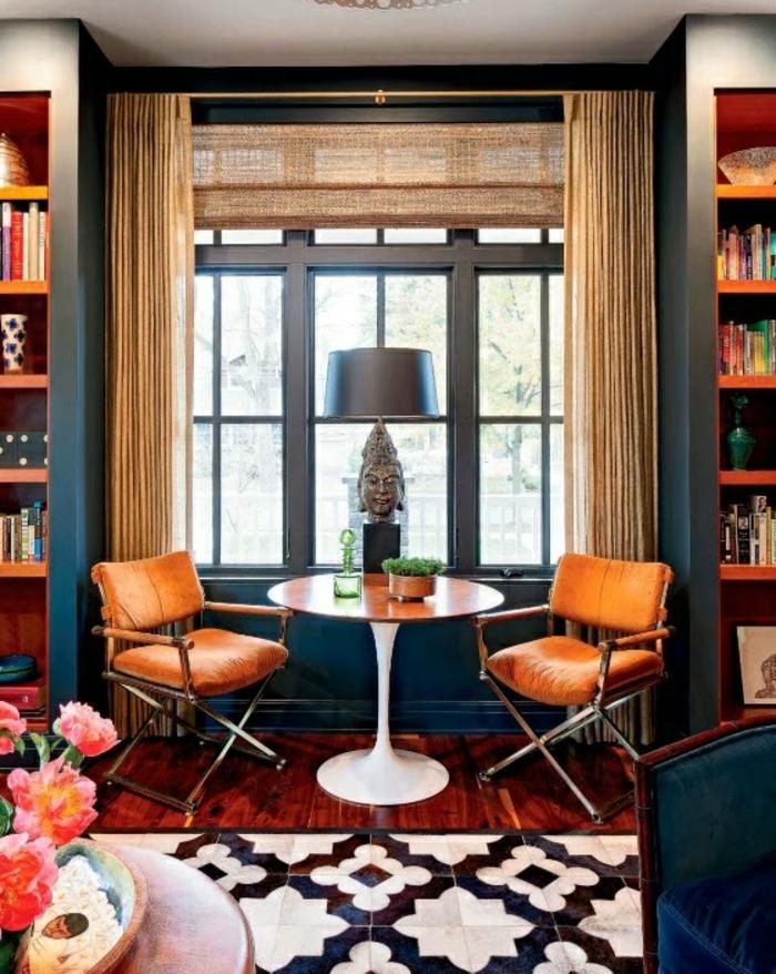 1001 id es pour la d coration d 39 une chambre bleu paon for Decoration chambre camaieu orange