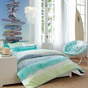 La chambre turquoise - une pièce de relax et de confort