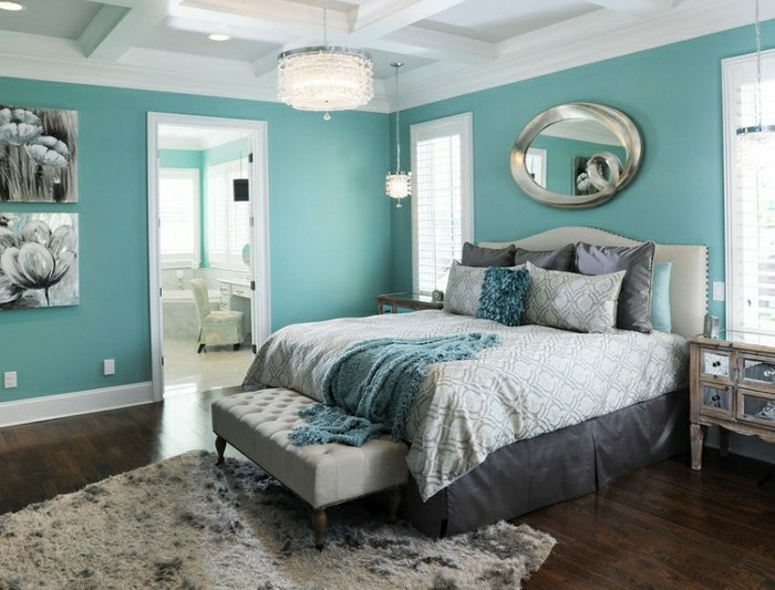 deco chambre turquoise et noir. Black Bedroom Furniture Sets. Home Design Ideas