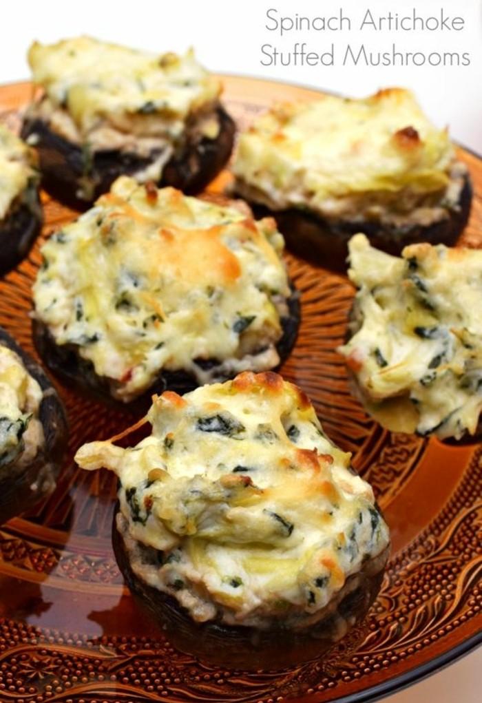 champignon-farci-au-fromage-et-aux-herbes-fraîches