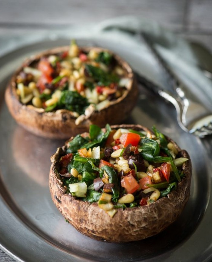 champignon-farci-préparer-des-tentations-dans-la-cuisine