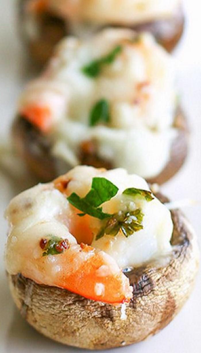 champignons-farcis-sucrées-pommes-et-crème
