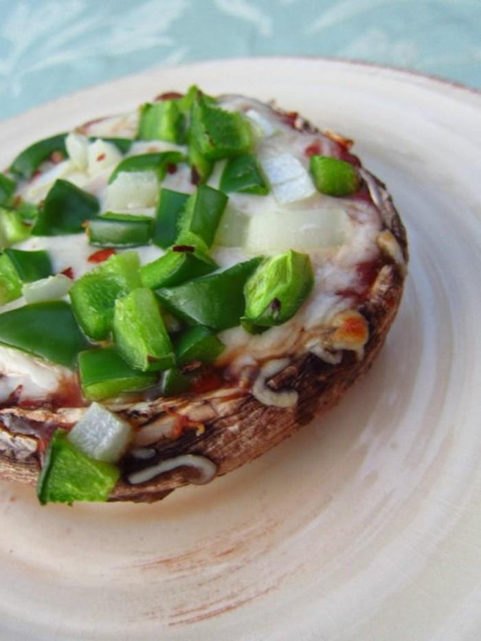 champignons-farcis-au-four-farce-avec-poivron-vert