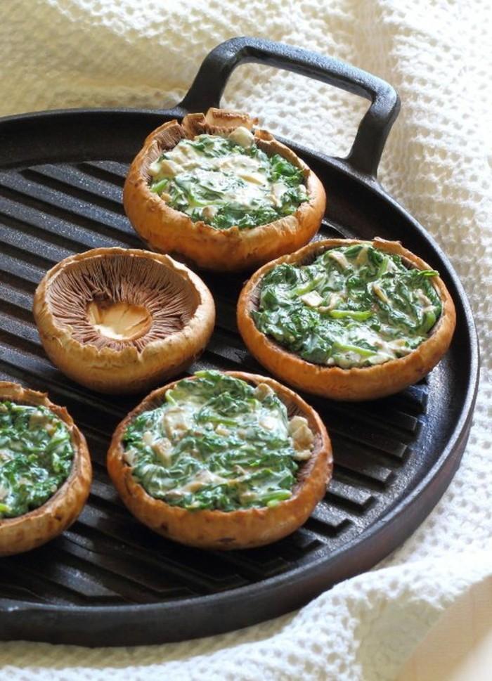 champignons-farcis-aux-épinards-et-au-chèvre-recette-simple