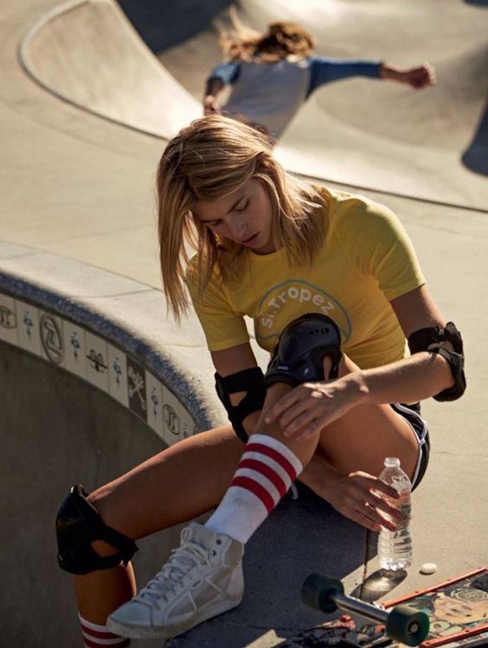 chaussettes fille longues pour skate style vintage