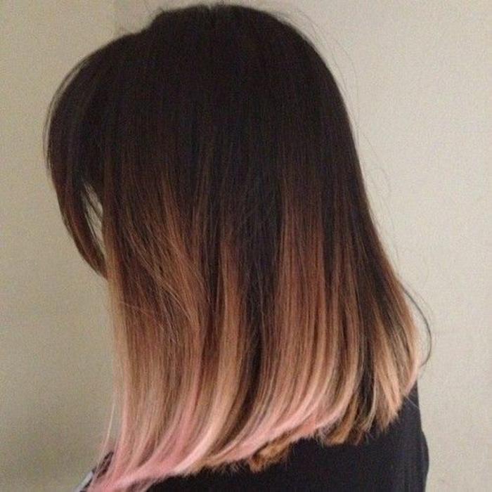 coloration rose sur les pointes, comment adopter le tie and dye carré