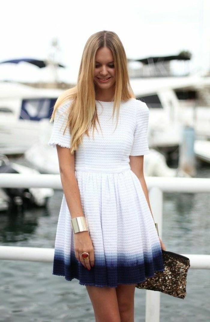 chic-décontracté-tenue-chic-décontractée-robe-décontractée-blanche-robe-ombre