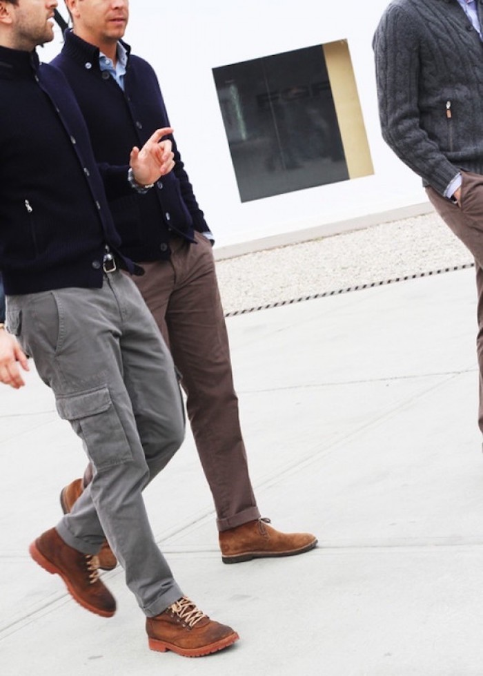 chino homme pantalon treillis gris multipoches