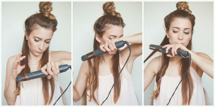 comment-faire-des-boucles-avec-un-lisseur-tuto-3-pas-chignon-cheveux-detaches