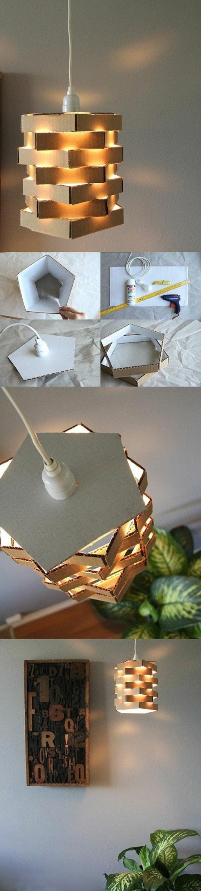 comment faire un abat-jour en découpes de carton