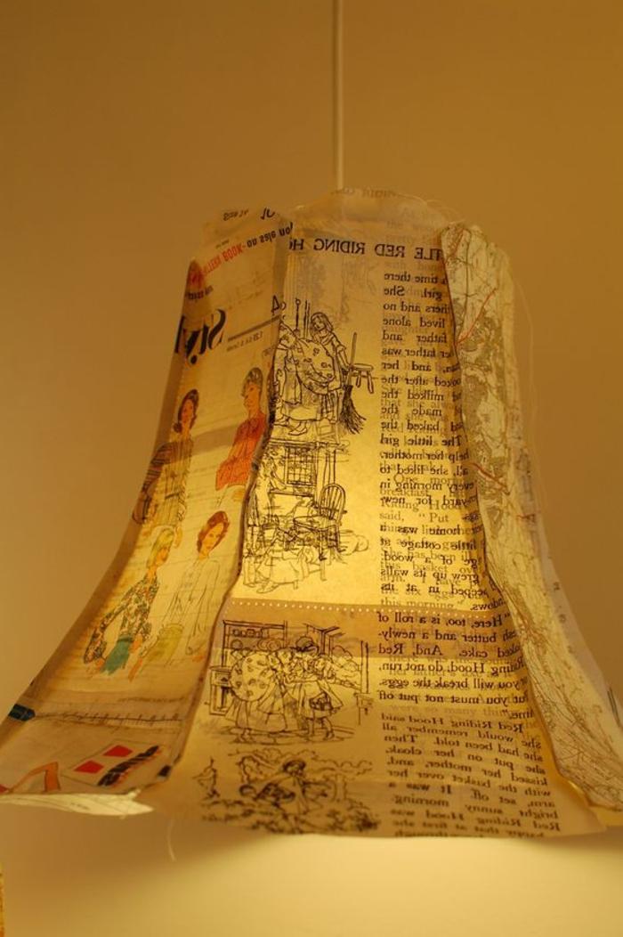 comment faire un abat-jour en papier usé