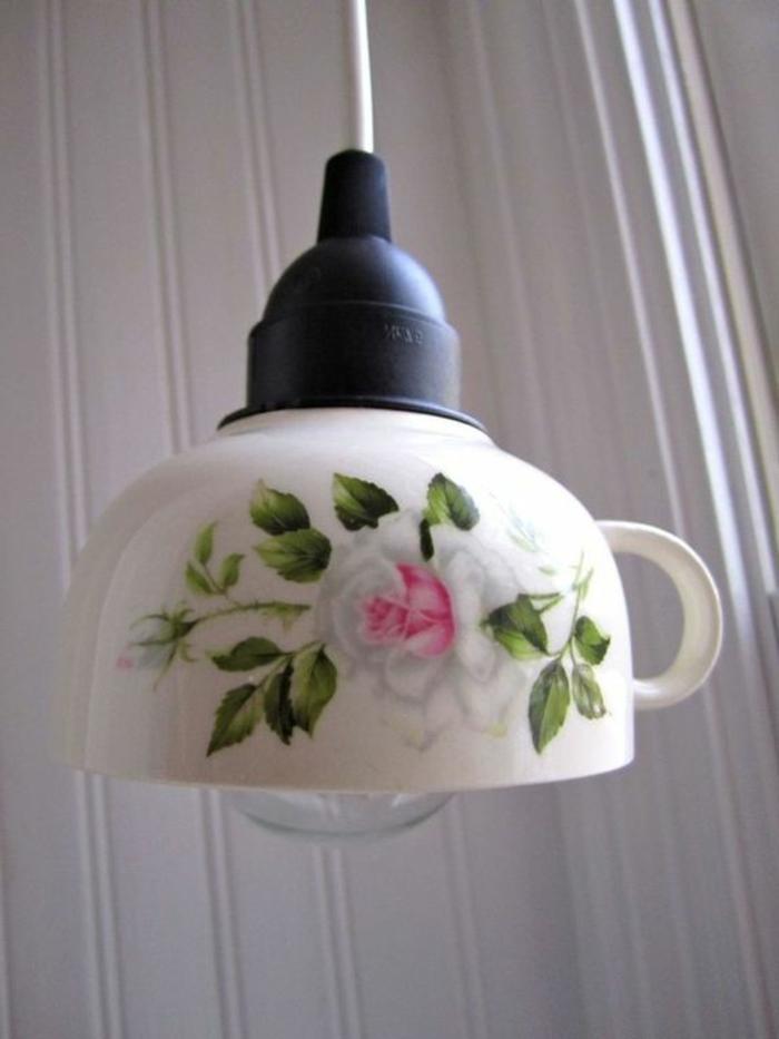 comment faire un abat-jour en tasse porcelaine