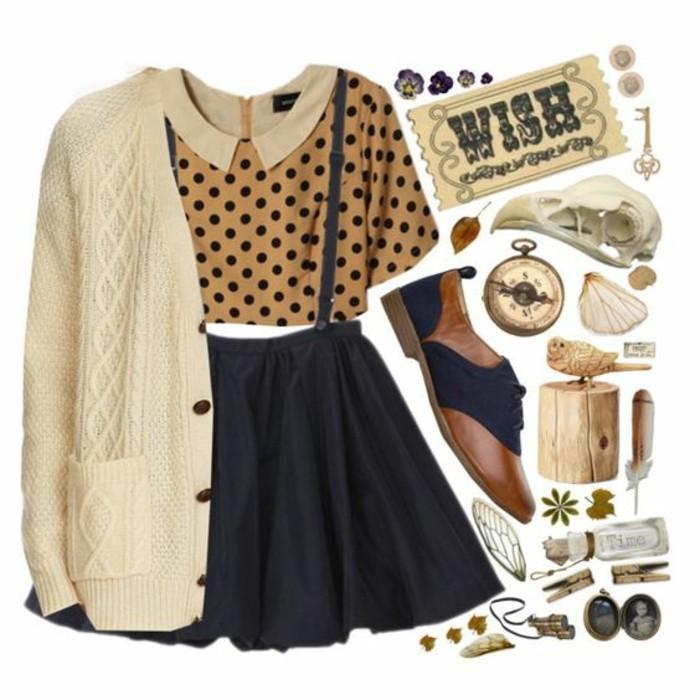 comment-porter-la-blouse-col-claudine-tenue-rétro-chic
