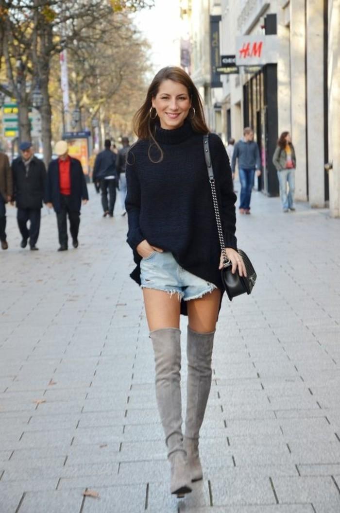 comment-s-habiller-en-automne-etre-femme-bien-habillée-bottes-longues