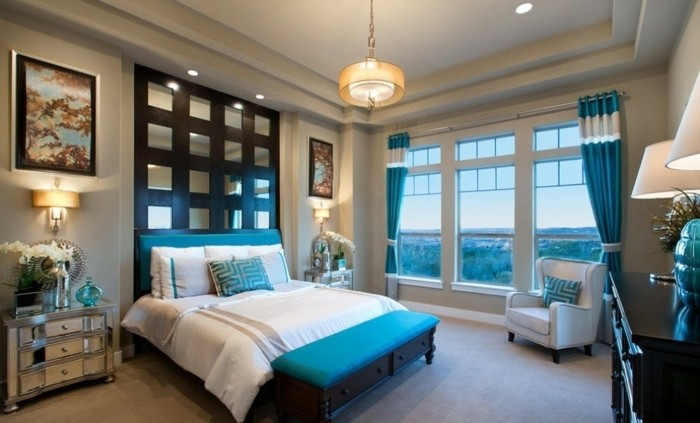 teal master bedroom ideas 1001 designs stup 233 fiants pour une chambre turquoise 17473