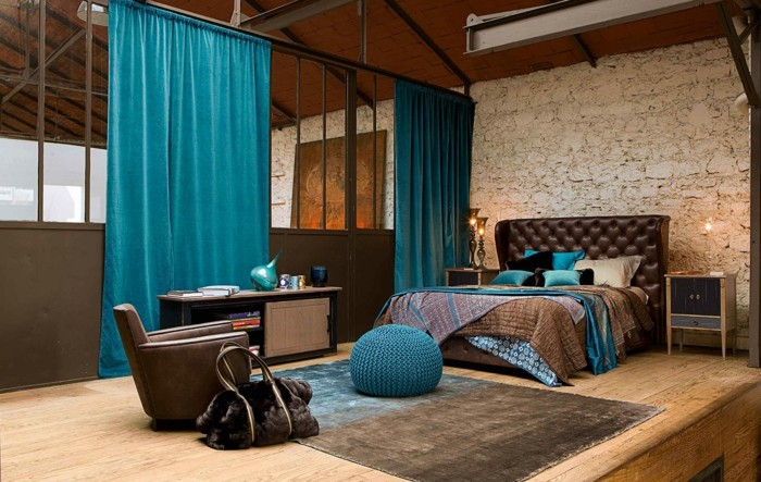 chambre marron et turquoise maison design. Black Bedroom Furniture Sets. Home Design Ideas