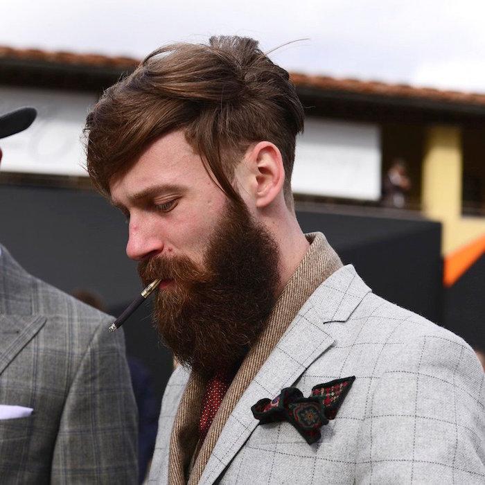 coiffure homme tendance dégradé progrsseif et barbe hipster