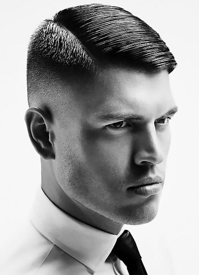 coupe de cheveux homme raie