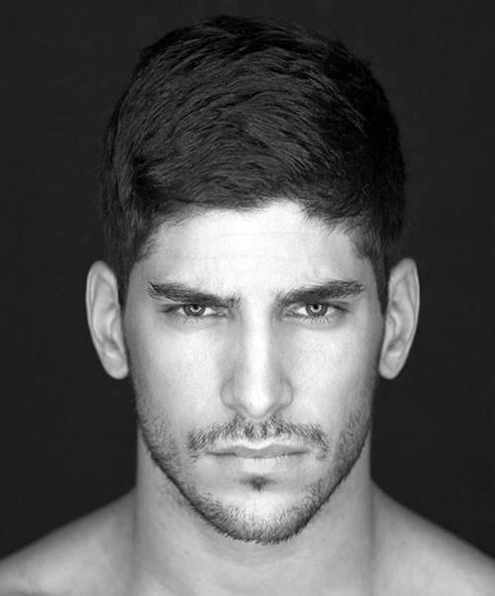 coiffure homme court brun