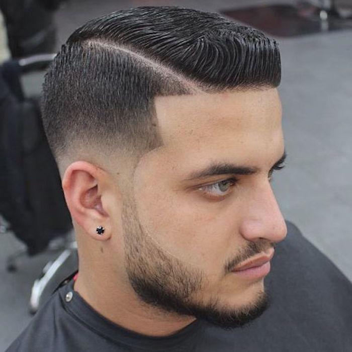 coiffure homme degrade sur les cotes