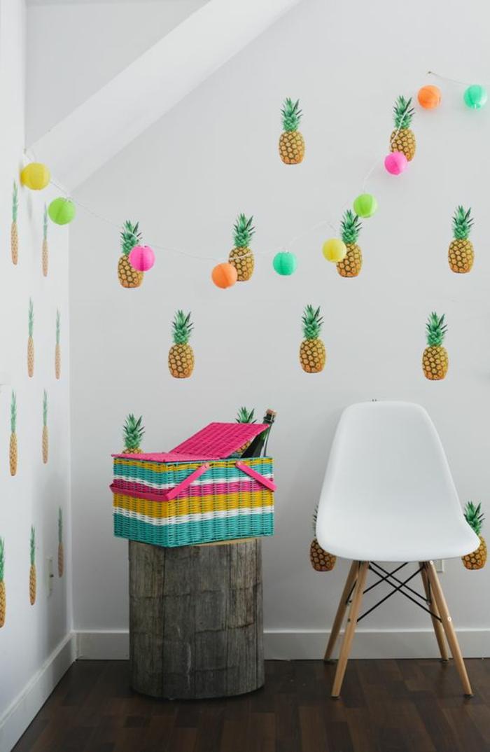déco-insolite-intérieur-scandinave-papier-pent-exotique-ananas