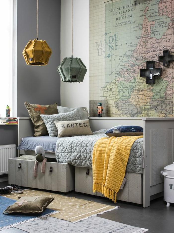 décoration-carte-murale-chambre-d'ado-garçon-esprit-voyage