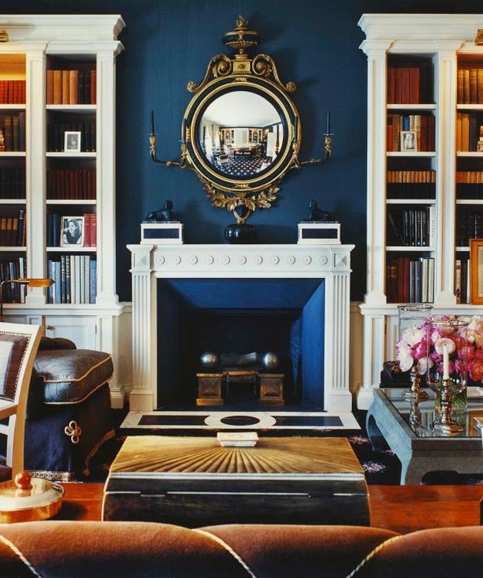 décoration-chambre-garçon-chambre-bleue-salon-stylé