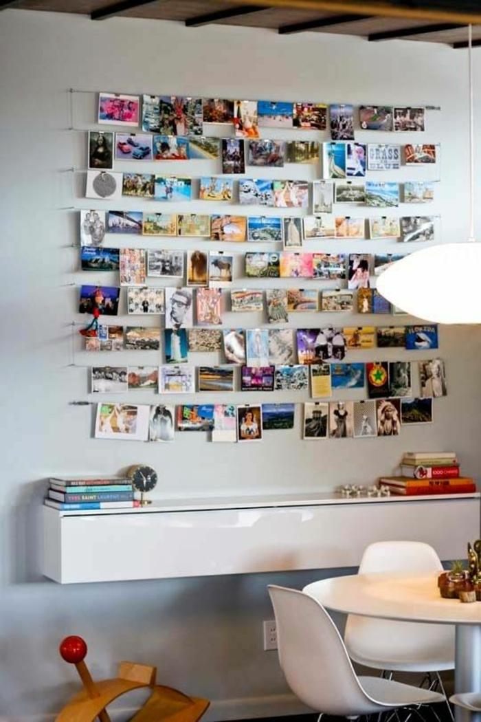 décoration-murale-de-photos-idée-pour-une-chambre-ado-créative