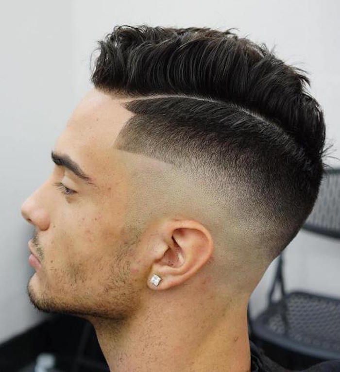 Coupe de cheveux degrade blanc