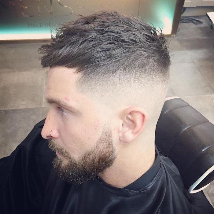 coupe de cheveux homme fondu a blanc