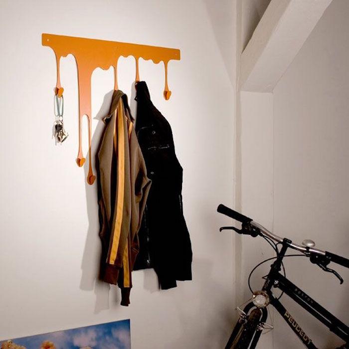 decoration murale style peinture coulante portemanteau patere