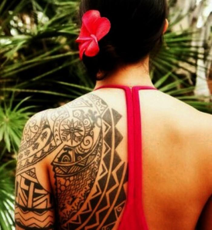 dessin polynesien tatouage bras maori tattoo maorie dos epaule fille tahiti polynésie
